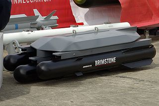 The RAF's Brimstone missile is a modern anti-tank missile.