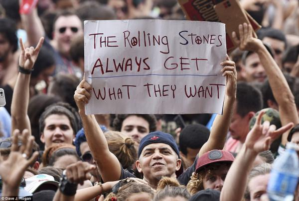 The Rolling Stones always get what they want