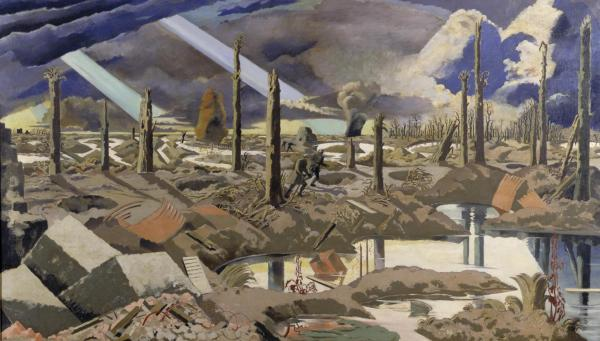 Menin Road, dipinto di Paul Nash, 1919