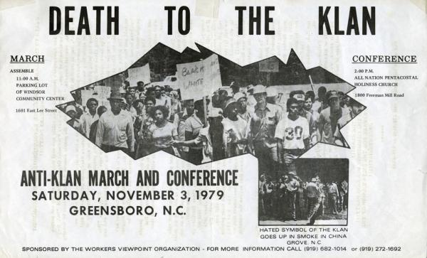 Death to Klan, Greensboro, 1979