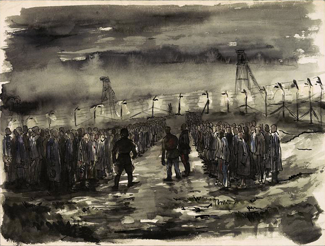 Death march Camp scene ,1945 Jan Hartman