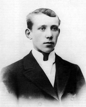 Joe Hill in 1898, four years before his emigration to the USA and still known as Joel Hägglund