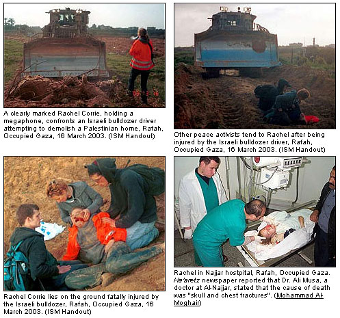 L'assassinio di Rachel Corrie