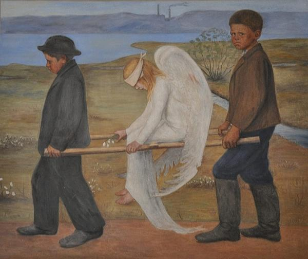The Wounded Angel by Hugo Simberg (1903)