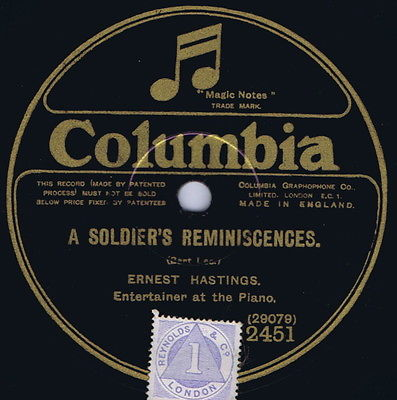 A Soldier's Reminiscences, 78 rpm
