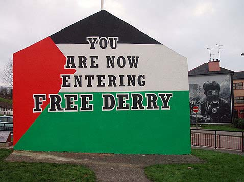 All'ingresso del Bogside. Versione palestinese. Entering Bogside. Palestinian Version.