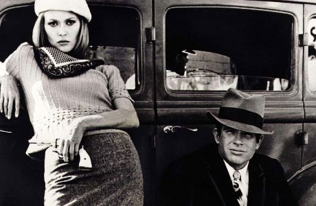 Bonnie and Clyde, Warren Beatty and Faye Dunaway.