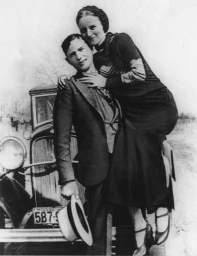 Bonnie and Clyde, forever young.