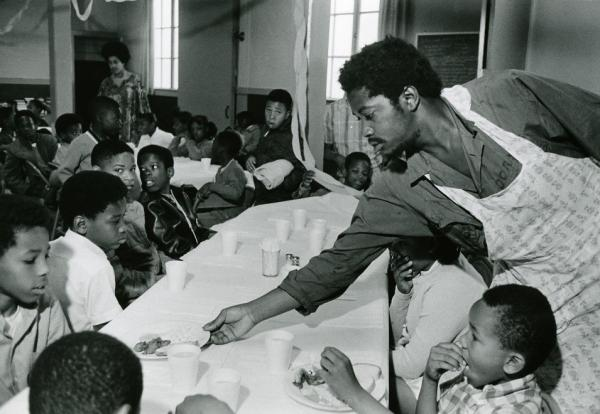 Black Panthers Party's breakfest for children program