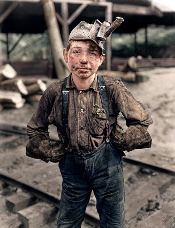 11 year old coal miner worker. 1908