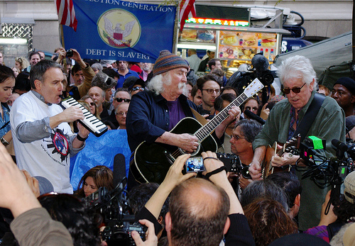 David Crosby Graham Nash Occupy Wall Street 2011