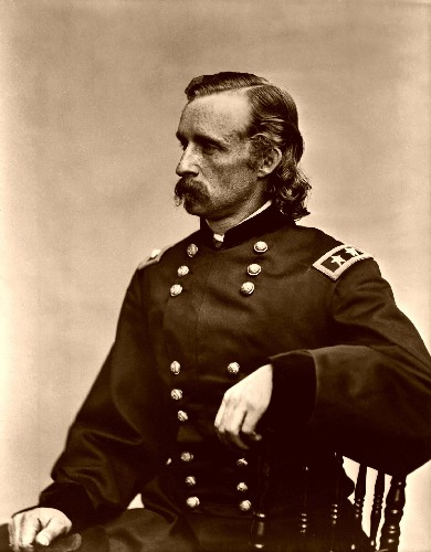 Il gen. George Armstrong Custer, 1839-1876.