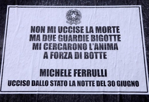 In morte di Michele Ferrulli