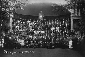 Primo congresso Ido, Dessau 1922. First Ido convention, Dessau 1922.