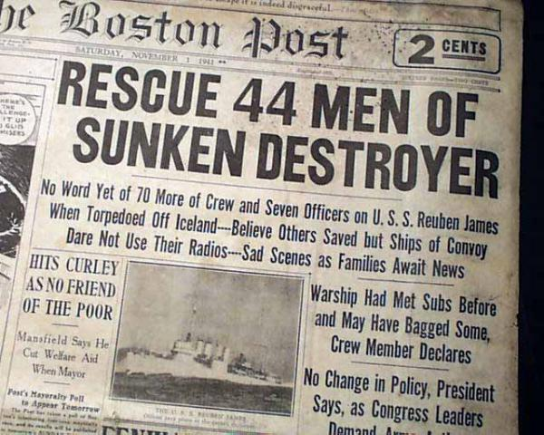 The Sinking Of The Reuben James