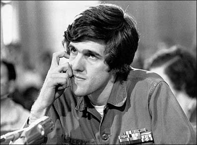 John Kerry during his Winter Soldier Testimony