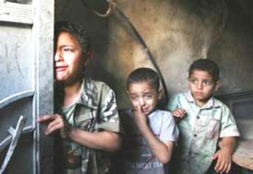 Bambini del ghetto di Gaza. Gaza Ghetto children.