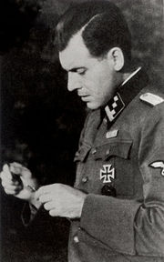Josef Mengele in uniforme SS