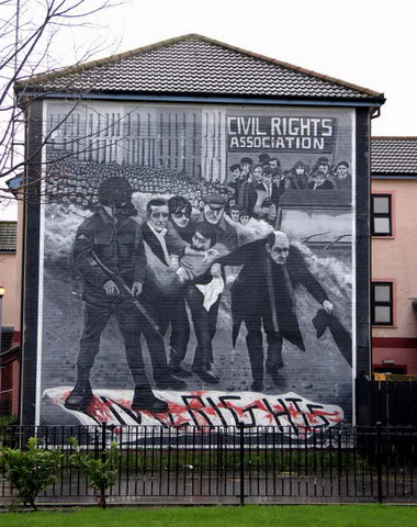 Derry, Bogside. La Domenica di Sangue. Derry, Bogside. The Bloody Sunday.