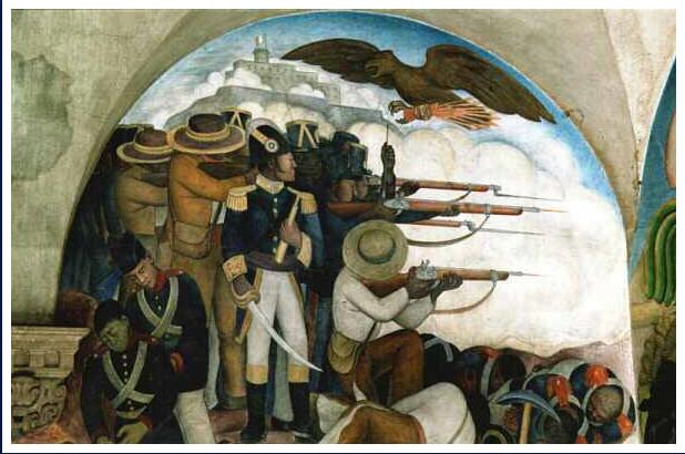 Città del Messico. Diego de Rivera: La guerra contro gli Stati Uniti. Mexico City. Diego de Rivera: The War against the United States.