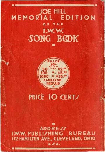 The Red Song Book – Joe Hill Memorial Edition.