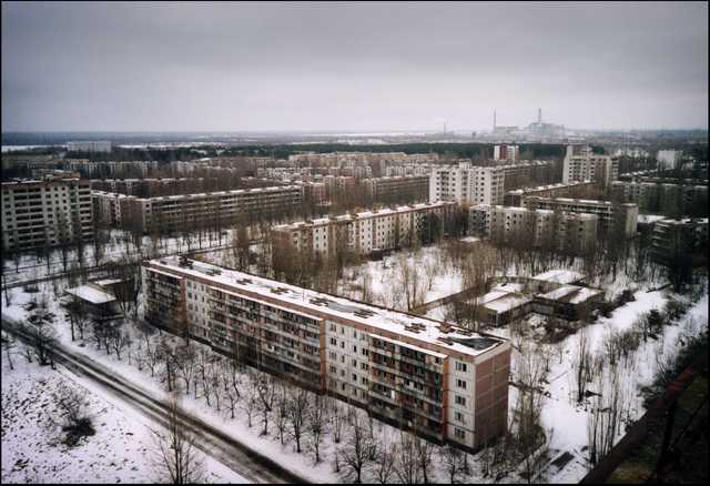 La città fantasma di Pripyat, presso Chernobyl. Aveva 50.000 abitanti fino al 26 aprile 1986. The ghost town of Pripyat, near Chernobyl. 50.000 people lived there until April 26, 1986..