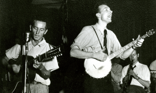 Pete Seeger e Woody Guthrie.